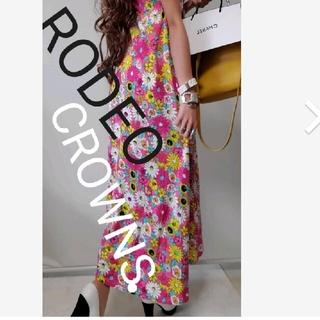 ロデオクラウンズ(RODEO CROWNS)のロデオクラウン 花柄マキシワンピース(ロングワンピース/マキシワンピース)