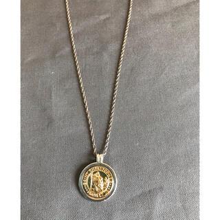 Tiffany & Co. - ティファニー セント クリストファー コインネックレス シルバー K18YG