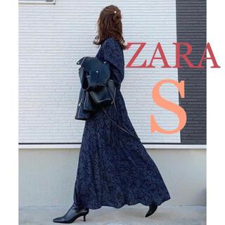 ZARA - 新品未使用 ZARA プリント柄ワンピース S 花柄 小花柄 ザラ