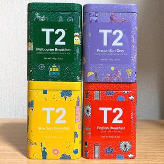 【匿名発送・4缶セット】T2 tea ティーツー 紅茶 ブラックティー(茶)