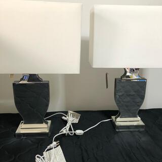 ザラホーム(ZARA HOME)のZARAHOME ミラー テーブルランプ ベースのみ 2個セット(テーブルスタンド)