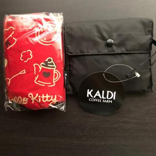 カルディ(KALDI)のKALDI  キティ エコバッグ2個セット(エコバッグ)