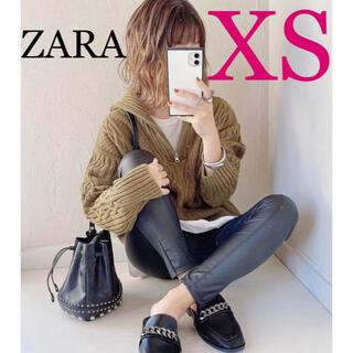 ZARA - ZARA レザー風レギンスパンツ フェイクレザーレギンスパンツ