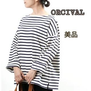 ORCIVAL - 美品⭐ORCIVAL オーチバル コットンロードワイドバスクシャツ