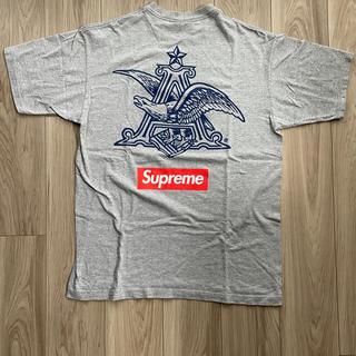 シュプリーム(Supreme)のsupreme budweiser box logo gray L シュプリーム(Tシャツ/カットソー(半袖/袖なし))