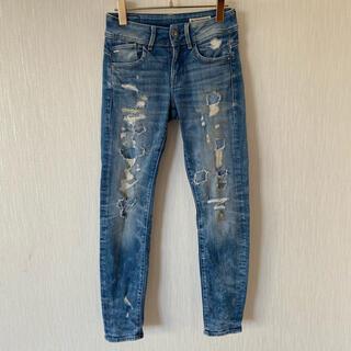 ジースター(G-STAR RAW)のジースターロゥ Lynn Mid Distressed Skinny Jeans(デニム/ジーンズ)