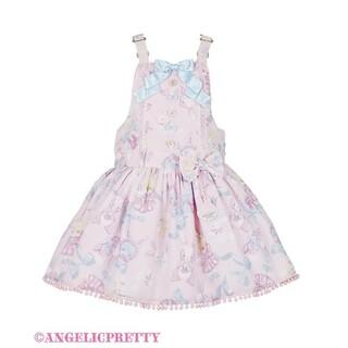 Angelic Pretty - Angelic Pretty Moco moco Bunnys サロペット ピン