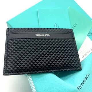 Tiffany & Co. - 新品✨鑑定済!TIFFANY ティファニー パスケース カードケース ブラック