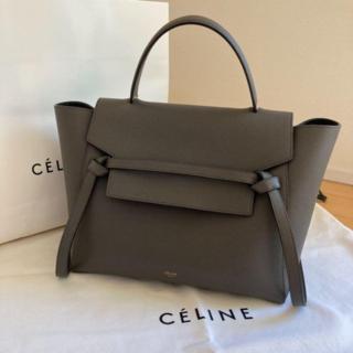 Celine セリーヌ ベルトバッグ グレー ショルダーバッグ