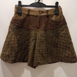 クミキョク(kumikyoku(組曲))のKUMIKYOKU    茶色チェックキュロットスカート(キュロット)
