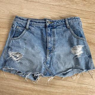 アンビー(ENVYM)のENVYM デニムミニスカート  ショーパン付き(ミニスカート)
