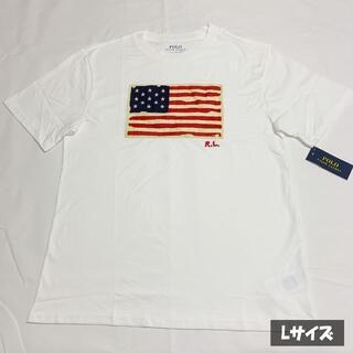 POLO RALPH LAUREN - 大人も着られる!ラルフローレン 星条旗 Tシャツ ホワイト Lサイズ