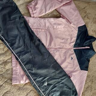 アディダス(adidas)のアディダス☆ピンクのシャカシャカ☆ジャージ上下セット☆レディースL☆送料込み(ルームウェア)