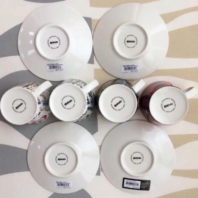 iittala(イッタラ)の新品 4客 iittala イッタラ タイカ コーヒー カップ&ソーサー インテリア/住まい/日用品のキッチン/食器(食器)の商品写真