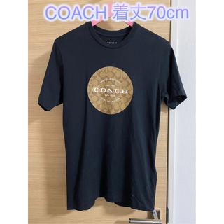 コーチ(COACH)の着丈約70cm【良品】Coach コーチ Tシャツ ブラック(Tシャツ/カットソー(半袖/袖なし))