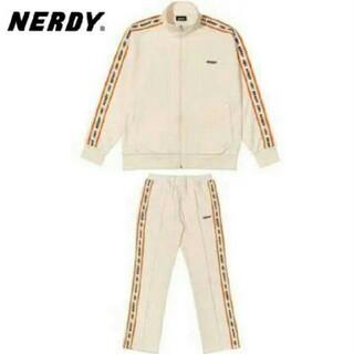 【韓国】nerdy ノルディー ジャージ セットアップ 上下 ホワイト