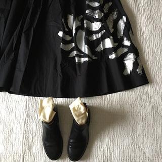 ポールハーデン(Paul Harnden)の世界一着‼️20AW toogood×PHAETON シルバーペイントスカート(ロングスカート)
