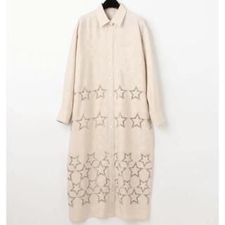 GRACE CONTINENTAL - グレースコンチネンタル スター刺繍シャツワンピース