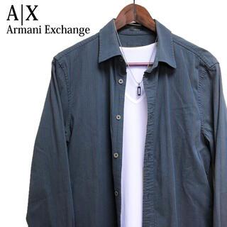 ARMANI EXCHANGE - ARMANI EXCHANGE 長袖シャツ ストライプシャツ カッターシャツ
