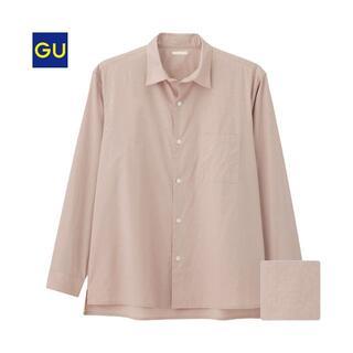 GU - ジーユー/ブロードビッグシャツ S アッシュピンク