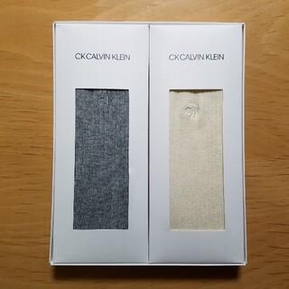 CK CALVIN KLEIN ソックス グレー ホワイト 2足セット