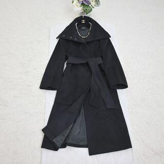 AKRIS - ★AKRIS★極美品★カシミヤ100%★女優襟★ベルト付き★ロング コート