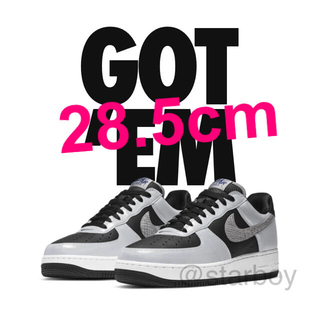 NIKE - 28.5cm NIKE AIR FORCE 1 SILVER SNAKE 黒蛇