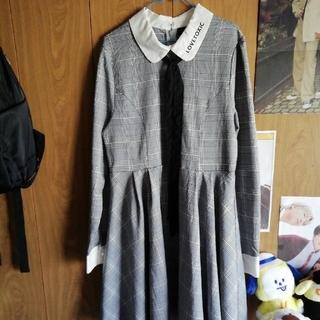 ラブトキシック(lovetoxic)の卒服に♪ラブトキシック◆フレアーワンピース(サイズL 160)(ドレス/フォーマル)