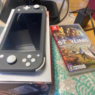 Nintendo Switch - switch lite グレー 箱付き ガラスフィルム おまけ付き