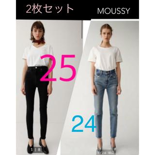 moussy - HW Rebirth L/BLACK SKINNY マウジー