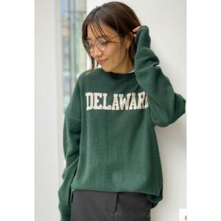 L'Appartement DEUXIEME CLASSE - アパルトモン GOOD GRIEF カシミヤLogo Knit Pullover