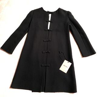 miumiu - ミュウミュウ miumiu ワンピース 黒 36 バックリボン ブラック 美品