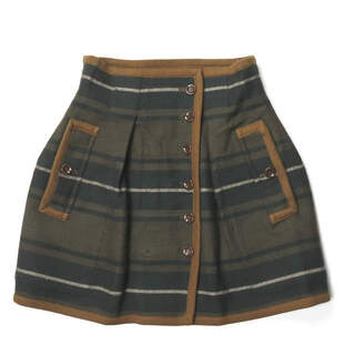 エィス(A)のA x BEAMS BOY リバーシブルボーダースカート スカート レディース(ミニスカート)