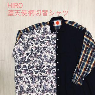 激レア HIRO 堕天使柄チェックシャツ