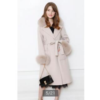 ジャスグリッティー(JUSGLITTY)のJUSGLITTY 衿ファー付きポケットファーコート(毛皮/ファーコート)