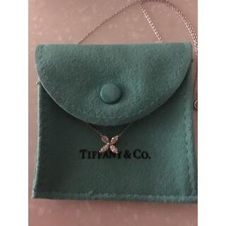Tiffany & Co. - ティファニービクトリアスモールダイヤネックレス PT950