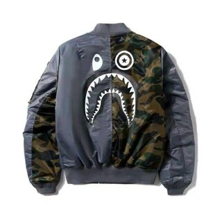 A BATHING APE - BAPE X ALPHA SHARK MA-1 ジャケット
