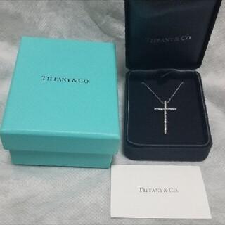 Tiffany & Co. - ティファニー メトロ ラージ クロス ネックレス ダイヤモンド ペンダント