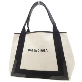 Balenciaga - バレンシアガ ネイビーカバ S ブラック黒 オフホワイト 40800064463