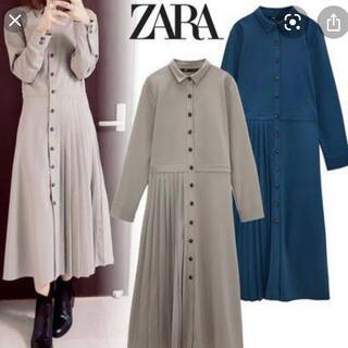 ZARA - ZARA♡プリーツ加工入りシャツワンピース