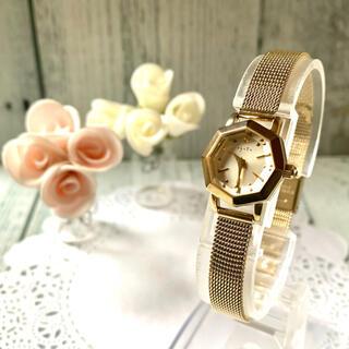 アガット(agete)の【電池交換済み】agete アガット 腕時計 ゴールド オクタゴン(腕時計)