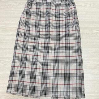 イーハイフンワールドギャラリー(E hyphen world gallery)の【E hyphen】スリットで大人なチェックタイトスカート(ロングスカート)