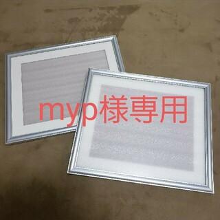 フジフイルム(富士フイルム)のフジカラー額縁 A13 アルミシルバー 四切 2セット(写真額縁)