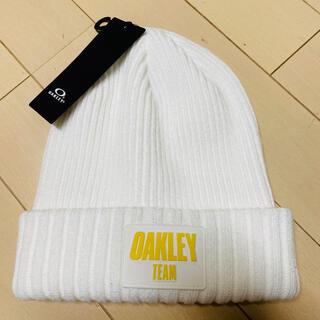 オークリー(Oakley)の新品!オークリー 白 ニット帽 ビーニー(ニット帽/ビーニー)