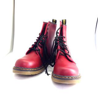 ドクターマーチン風ブーツ 赤 24cm(ブーツ)