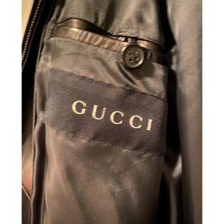 グッチ(Gucci)のグッチレザージャケット フルジップ メンズ(レザージャケット)