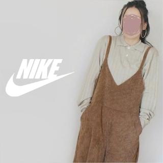 ナイキ(NIKE)の【激かわ♡】NIKE 100%毛 ロゴ刺繍 ハーフボタン 衿付きニット セーター(ニット/セーター)