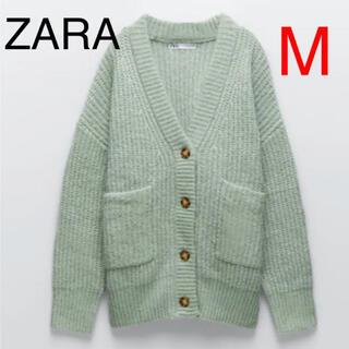 ZARA - ZARA パッチポケットカーディガン M