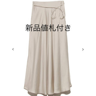 Mila Owen - 新品値札付き Mila Owen サテンスカート