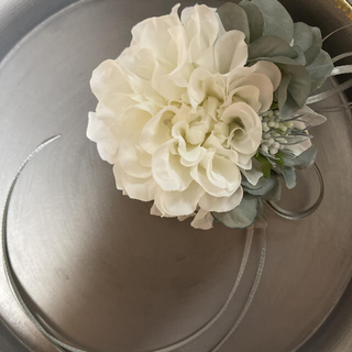 toytoy627-大コサージュ 単品 【ホワイト】卒業式 入学式 結婚式(コサージュ/ブローチ)